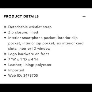 MICHAEL Michael Kors Bags - Michael Kors Multi-Function Large Phone Wristlet